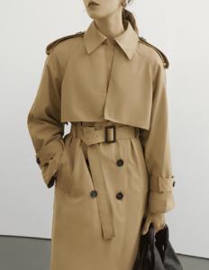 Fano Studios「Raglan sleeve belted trench coat」
