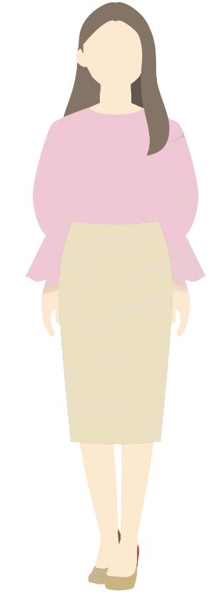 膨張色の服