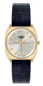 ヘンリーロンドンのネイビーの腕時計