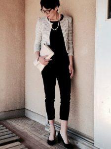 入園式 白ツイードジャケット