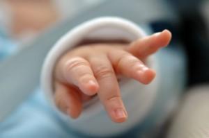 赤ちゃんの手 お化粧