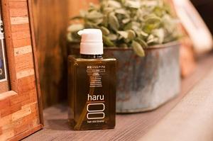 黒髪対策のシャンプー haru