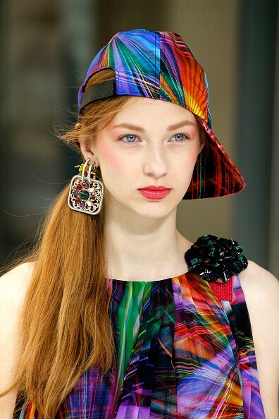 PARIS, FRANCE - OCTOBER 4: A Headwear detail at the Chanel show as part of the Paris Fashion Week Womenswear Spring/Summer 2017 on October 4, 2016 in Paris, France. (Photo by Estrop/Getty Images)