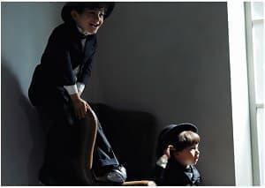 男の子 兄弟リンクコーデ 記念写真 カジュアル スーツ