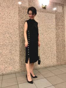 40代 ホテル ランチ ワンピース ファッション
