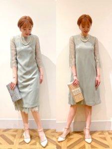 キレイな色のドレス
