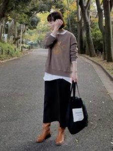 *kumiko*のスウェット「ロゴ スエット」を使ったコーディネート