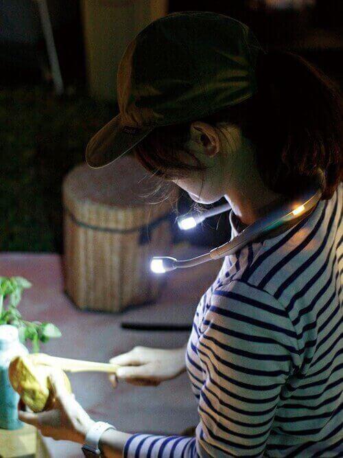 キャンプ ライト おしゃれ 料理