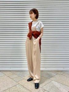 おみゆのサロペット/オーバーオール「ダブルクロスコクーンサロペット」を使ったコーディネート