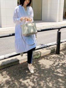 nobuのトートバッグ「パーテーション2WAYバッグ」を使ったコーディネート