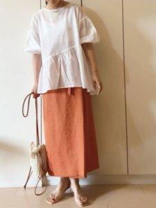 NAnaのシャツ/ブラウス「バルーンスリーブフレアブラウス」を使ったコーディネート