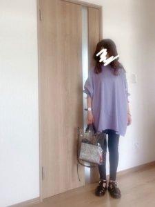 kumikoのTシャツ/カットソー「ビッグシルエットロングスリーブTee」を使ったコーディネート