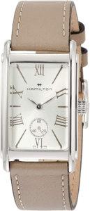ハミルトンのベージュの腕時計