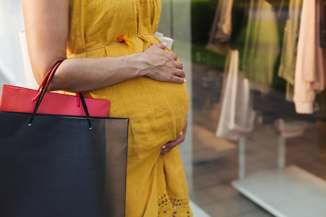 マタニティコーデ 妊婦 買い物 授乳服
