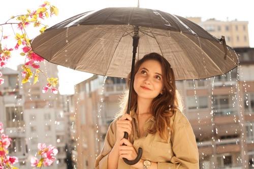 雨の日 コーデ 梅雨 通勤コーデ 30代 40代 きれいめ 夏 オフィスカジュアル