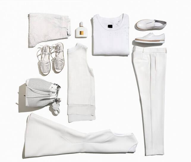 ホワイト ファッション オールホワイト