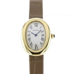 カルティエのブラウンの腕時計