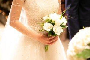 ウェディングドレス,白,美しい